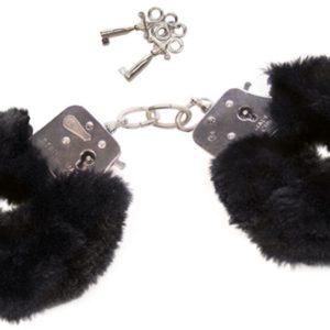 """Handschellen """"Love Cuffs"""" aus Stahl und Plüsch"""