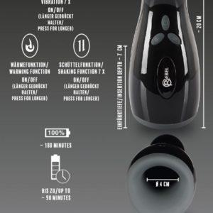 Masturbator mit Vibration und Heizfunktion