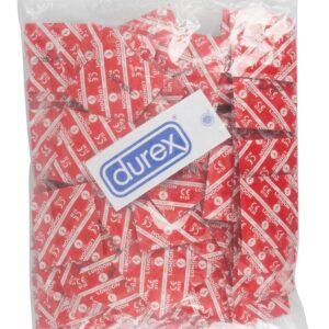 "Kondome ""London Rot"", feucht mit Erdbeeren-Aroma 100 Stück"